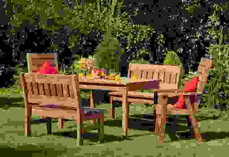 Set da giardino Tavolo + 2 Panche + 2 sedie di ONLYWOOD Classico Legno massello Variopinto