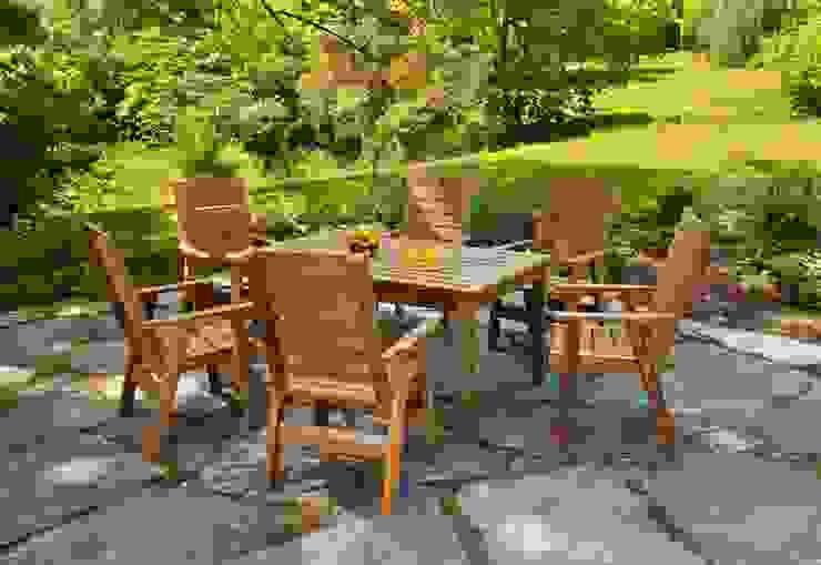 Set da giardino tavolo + 6 sedie di ONLYWOOD Classico Legno massello Variopinto