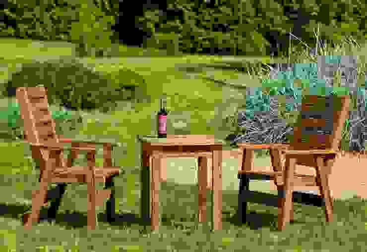 Set da giardino Tavolino + 2 poltrone di ONLYWOOD Classico Legno massello Variopinto