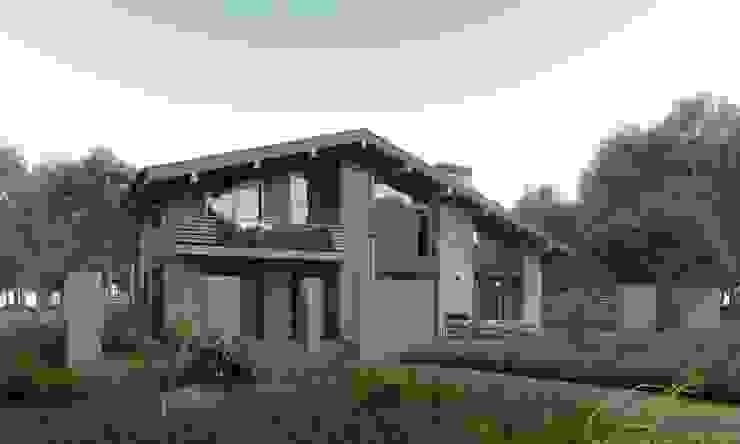 Casas de estilo minimalista de Компания архитекторов Латышевых 'Мечты сбываются' Minimalista