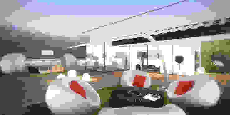 2+1 Teras Modern Balkon, Veranda & Teras Erden Ekin Design Modern