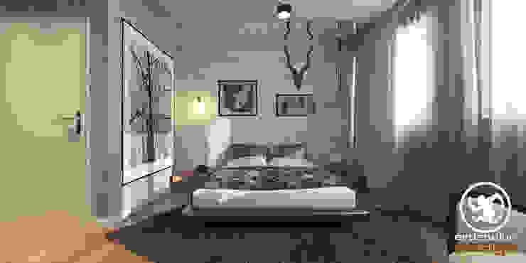 Industrial style bedroom by Erden Ekin Design Industrial