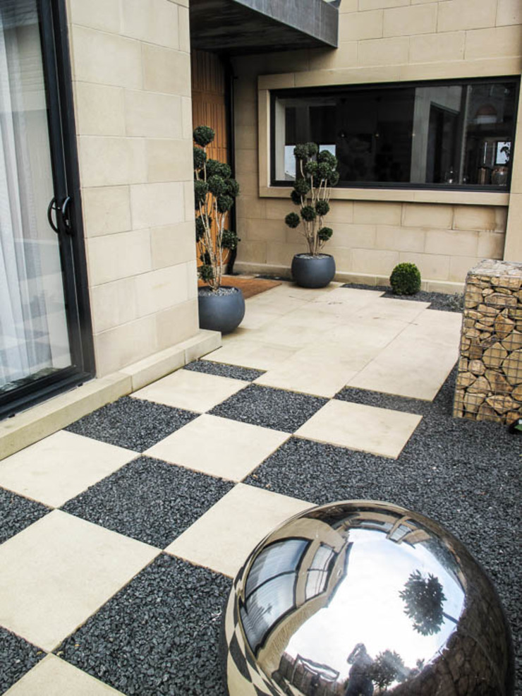 Checkerboard Modern Bahçe Yorkshire Gardens Modern