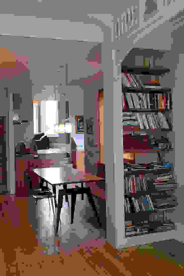 Open plan kitchen-living room Modern Kitchen by A2studio Modern