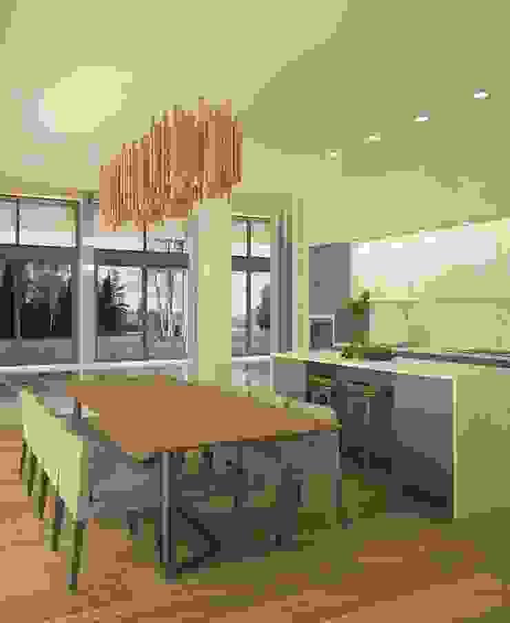 Minimalistische keukens van MD WORK SRL Minimalistisch Massief hout Bont