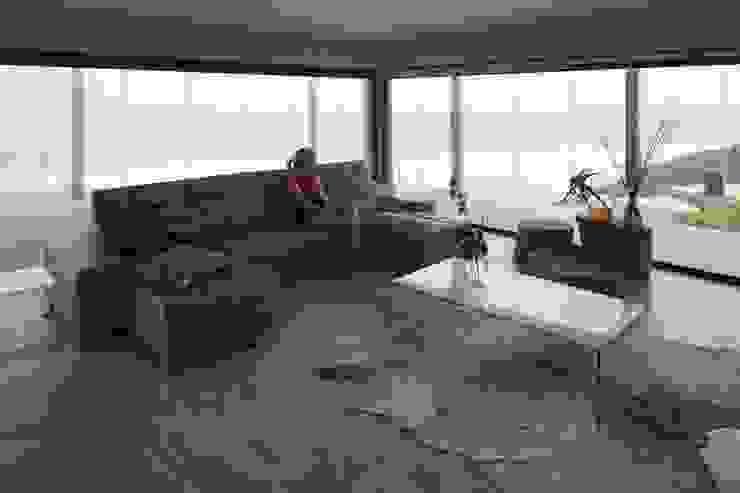 Brenton House living room 01 by Sergio Nunes Architects Scandinavian Glass
