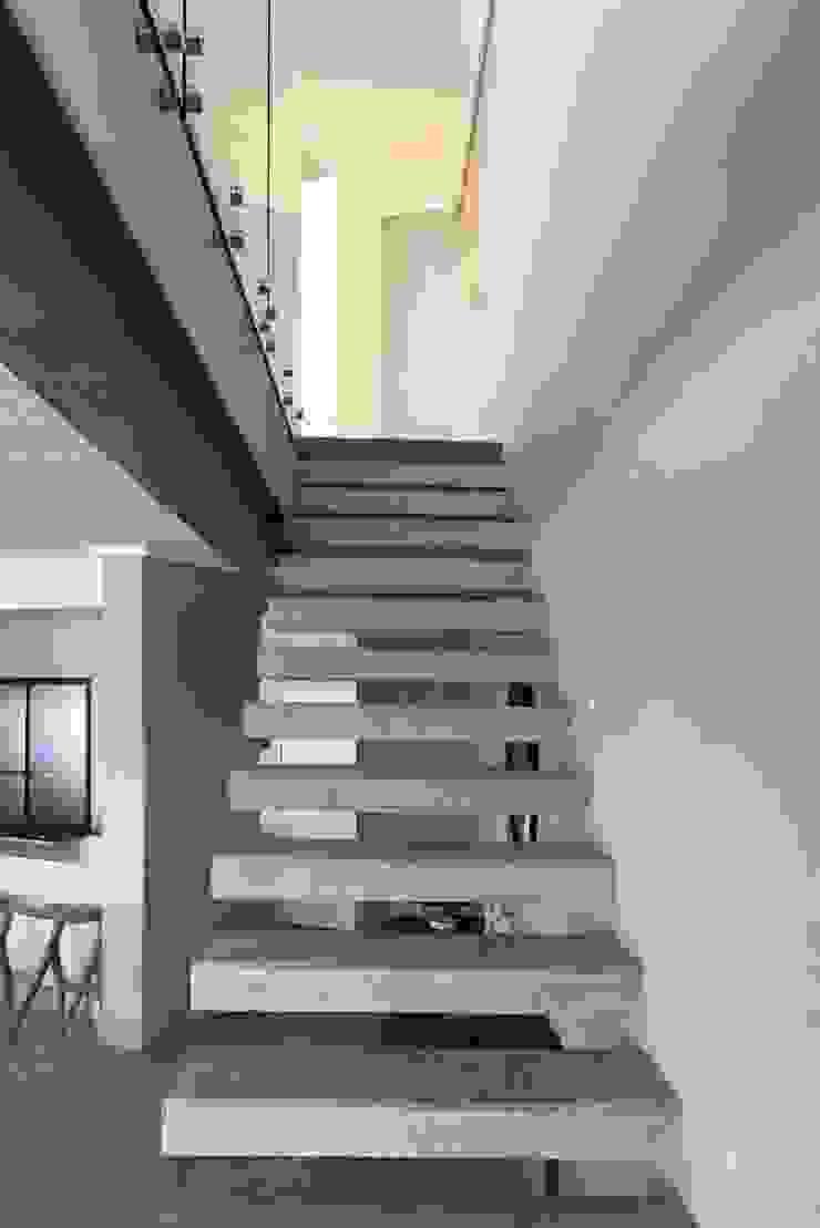 Brenton House stair detail Modern Corridor, Hallway and Staircase by Sergio Nunes Architects Modern Concrete