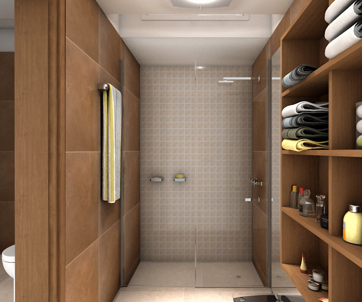 Modern bathroom by JIEarq Modern سرامک