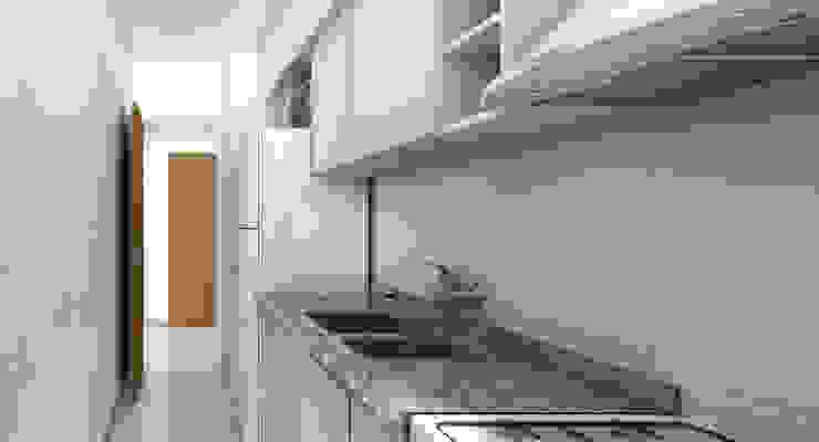 Propuesta Cocina Cocinas de estilo moderno de JIEarq Moderno