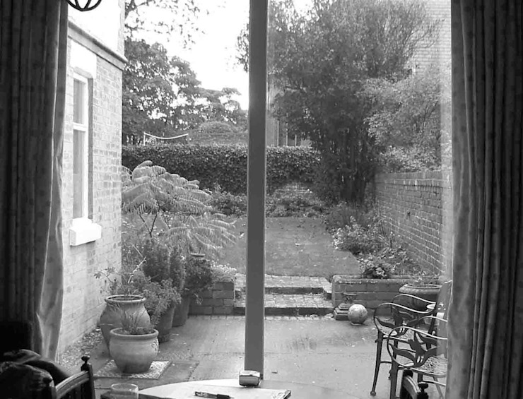 West Kirby Garden Before - Kitchen Terrace - Caroline Benedict Smith Garden Design Cheshire by Caroline Benedict Smith Garden Design Cheshire