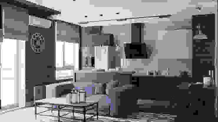 Nhà bếp phong cách công nghiệp bởi EEDS дизайн студия Евгении Ермолаевой Công nghiệp