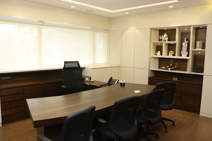 Office Interiors by Artek-Architects & Interior Designers Rustic Wood Wood effect