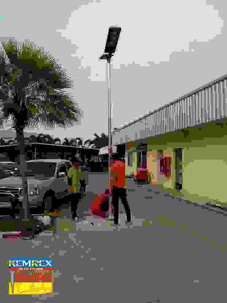 งานฐานราก Solar street light โดย บริษัทเข็มเหล็ก จำกัด
