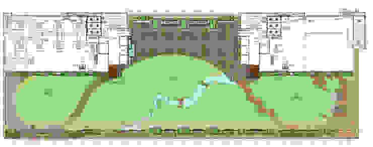 Terrace garden floor plan by Land Design landscape architects Tropical