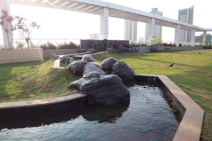 Tropical water body feature Land Design landscape architects Commercial Spaces