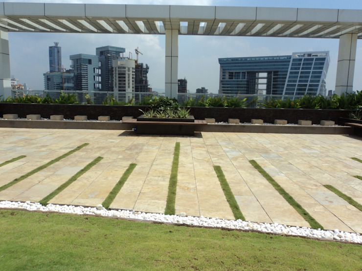 flooring pattern by Land Design landscape architects Tropical