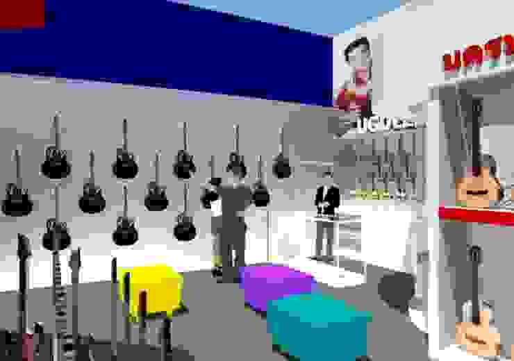 ออกแบบตกแต่งร้านนครหลวงการดนตรี สาขาฟอร์จูนทาวน์: ผสมผสาน  โดย COCONS ARCHITECTURE, ผสมผสาน