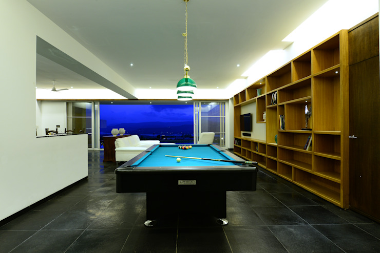 Livings de estilo  por Studio K-7 Designs Pvt. Ltd, Moderno Concreto