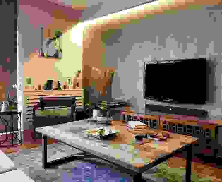 现代客厅設計點子、靈感 & 圖片 根據 B2RN Architecture 現代風
