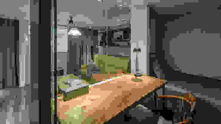 東門住宅:  書房/辦公室 by 齊禾設計有限公司