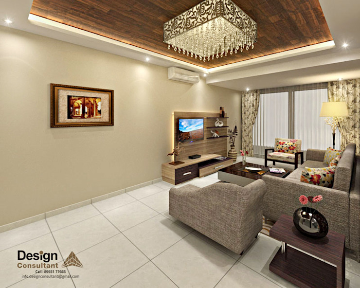 Living and Dining Area Asian style living room by homify Asian