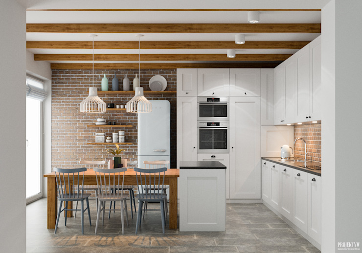 Kitchen by PRØJEKTYW | Architektura Wnętrz & Design, Scandinavian