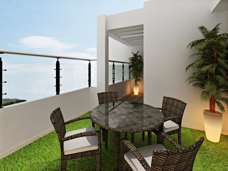 homify Asian style balcony, veranda & terrace
