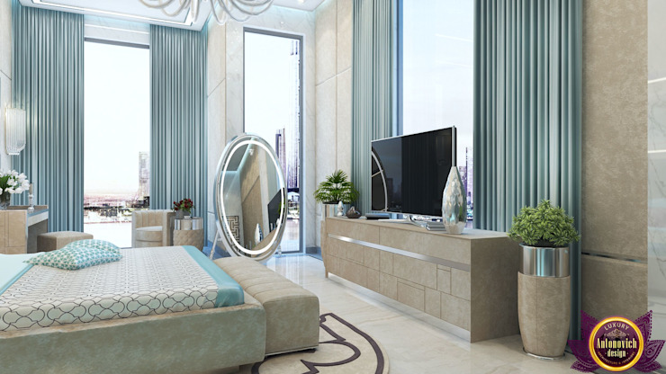 Divine interior design by Katrina Antonovich Modern style bedroom by Luxury Antonovich Design Modern