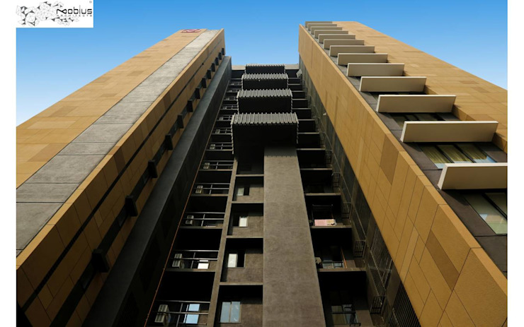 Satguru Shlok Modern houses by Mobius Architects Modern