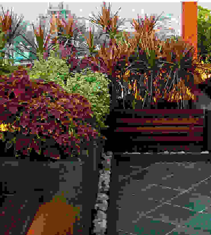 Planter and flooring pattern Modern garden by Land Design landscape architects Modern