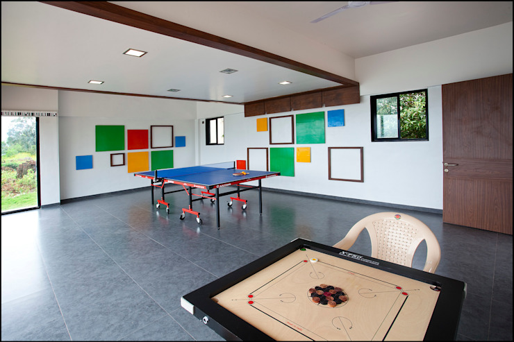 entertainment area by Land Design landscape architects Minimalist