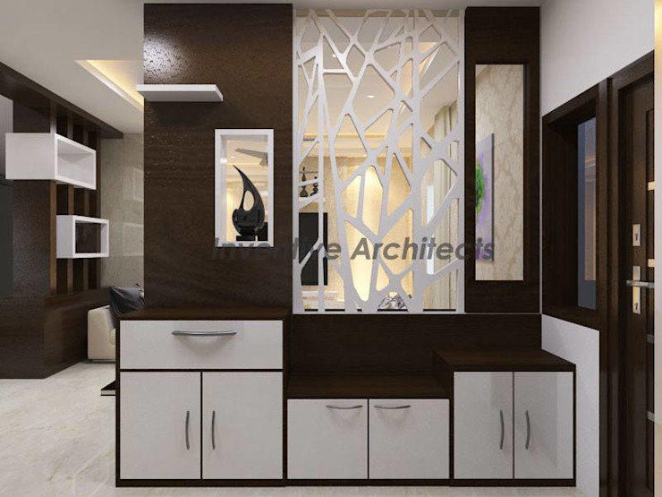 Interior Project for 3BHK Flat Inventivearchitects Asian style living room
