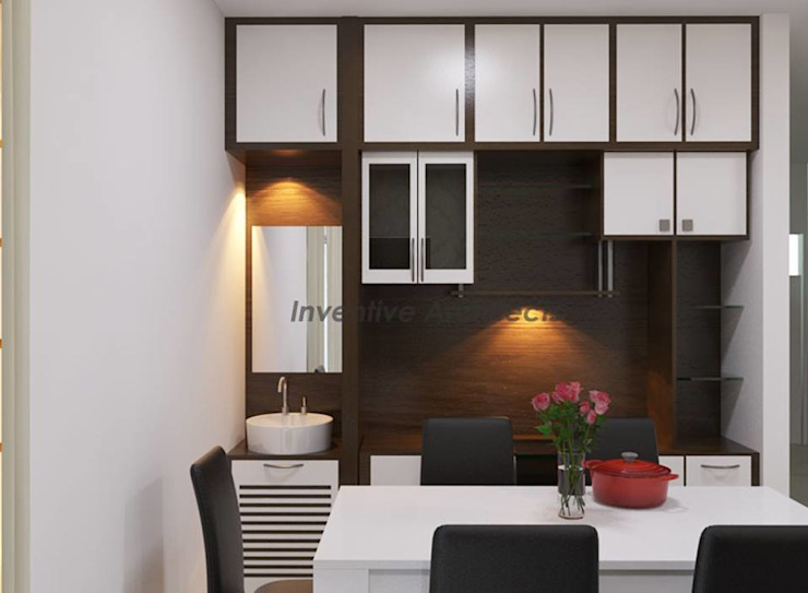 Interior Project for 3BHK Flat Inventivearchitects Modern dining room
