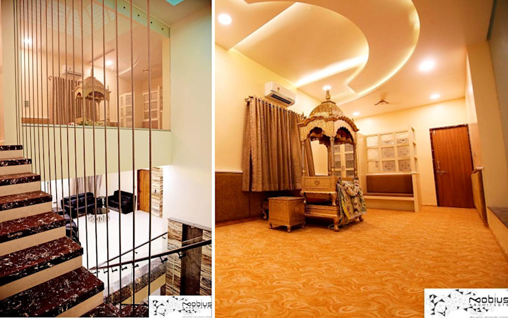 Puja Mandeer / Gurudwara Asian style walls & floors by Mobius Architects Asian