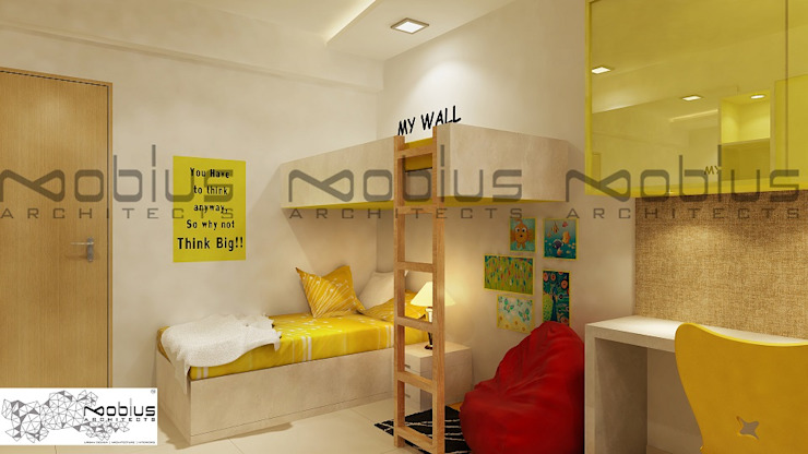 Rhythm Apartment Modern nursery/kids room by Mobius Architects Modern