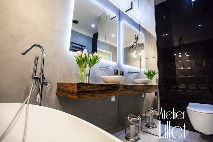 Modern Bathroom by ATELIER LILLET Karolina Lewandowska Modern Concrete
