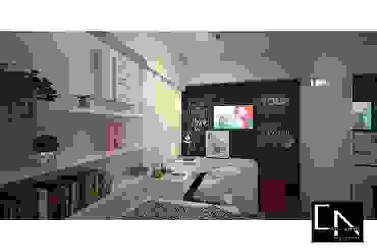 Vista para escrivaninha/penteadeira Quartos modernos por CAIK ARRAES Arquitetura Moderno