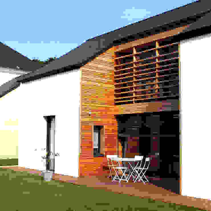 terrasse sud Maisons modernes par yg-architecte Moderne Bois massif Multicolore