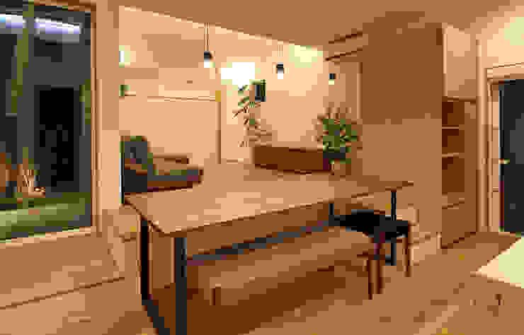 Phòng ăn phong cách Bắc Âu bởi 福田康紀建築計画 Bắc Âu