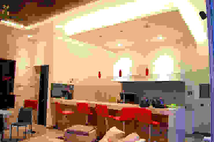 Ampliación Residencia BG Balcones y terrazas modernos de Arstudio Moderno Granito