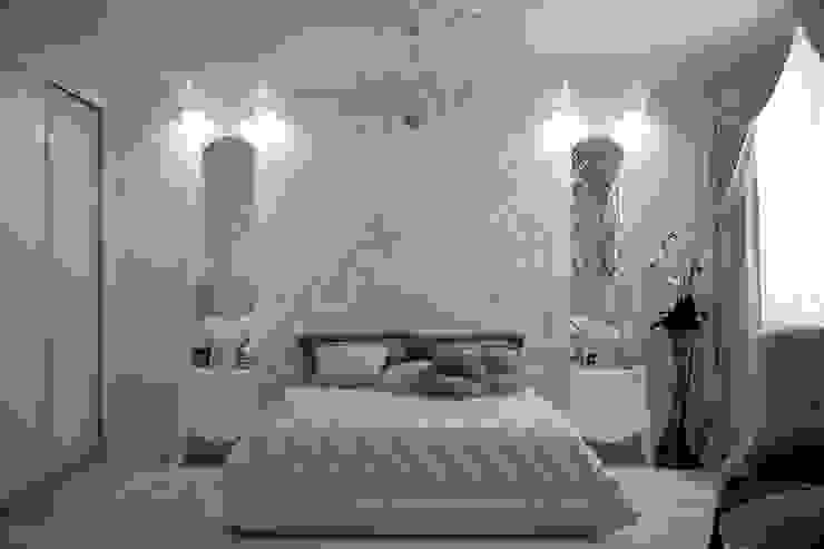 """Дизайн спальни в классическом стиле в квартире в ЖК """"Европейский"""", г.Краснодар Спальня в классическом стиле от Студия интерьерного дизайна happy.design Классический"""