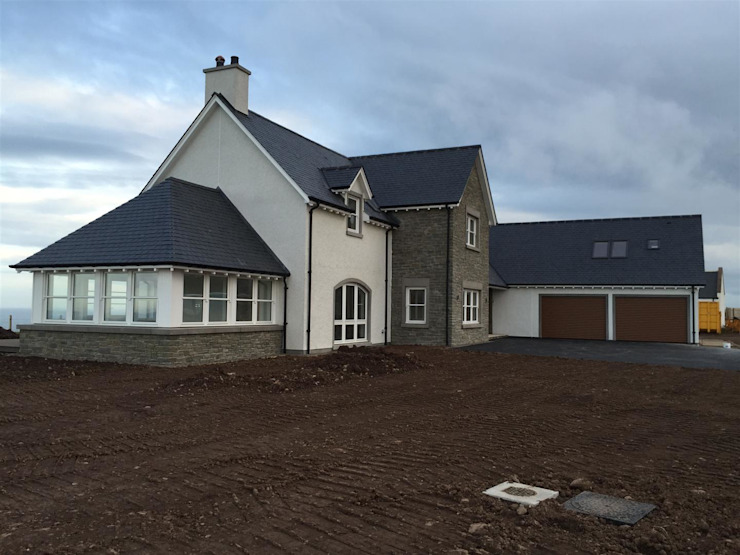 Plot 3, The Views, Gallaton, Aberdeenshire Case moderne di Roundhouse Architecture Ltd Moderno