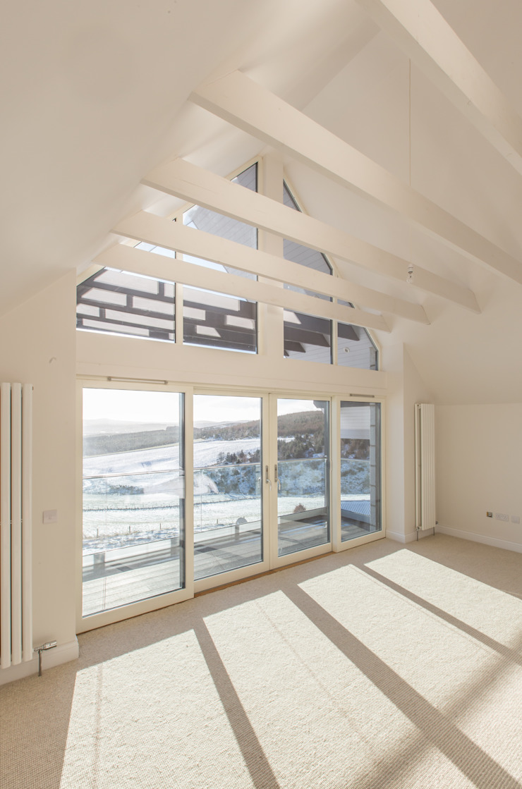 Coldwells, Alford, Aberdeenshire Roundhouse Architecture Ltd Modern style bedroom