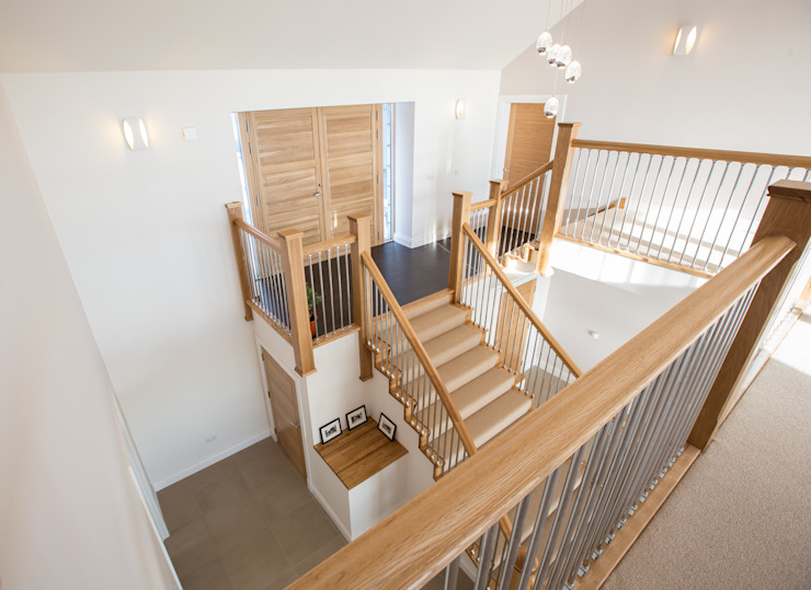 Coldwells, Alford, Aberdeenshire Roundhouse Architecture Ltd Modern Corridor, Hallway and Staircase