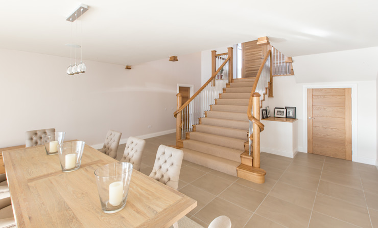 Coldwells, Alford, Aberdeenshire Roundhouse Architecture Ltd Modern dining room
