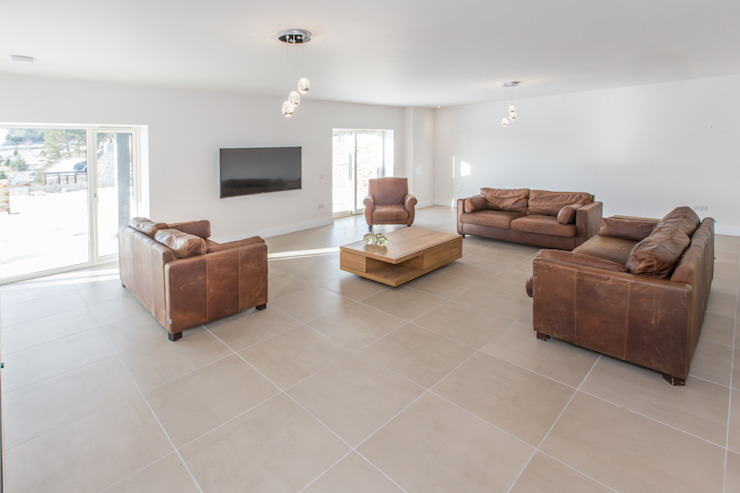 Coldwells, Alford, Aberdeenshire Roundhouse Architecture Ltd Modern living room