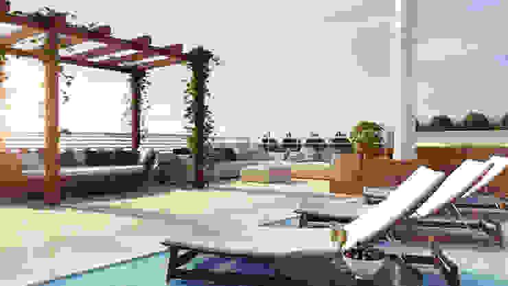 Projetos de Arquitetura Varandas, alpendres e terraços modernos por Dazen | Creativity Connected Moderno