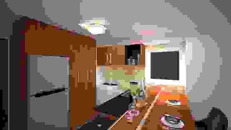 modern  by Vanguardia Arquitectónica, Modern Engineered Wood Transparent