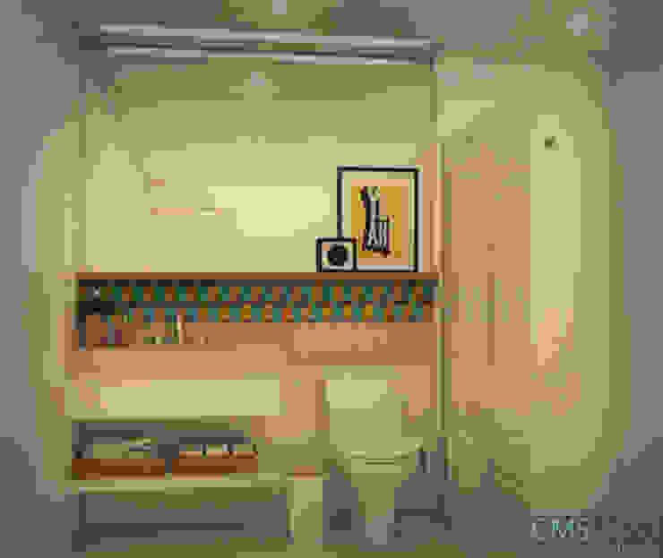 ห้องน้ำ โดย CMS.ARQ - Camila Machado Salmória,