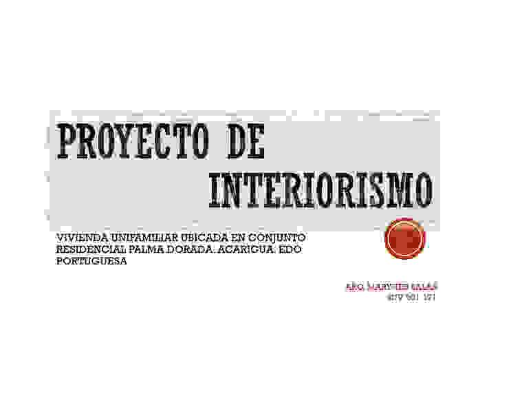INTERIORISMO DE UNA VIVIENDA UNIFAMILIAR MAS ARQUITECTURA1 - Arq. Marynes Salas Casas modernas
